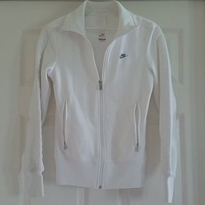 Nike white full zip jacket